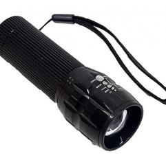 고광도 줌 LED 캠핑 등산 낚시 후레쉬 손전등 랜턴